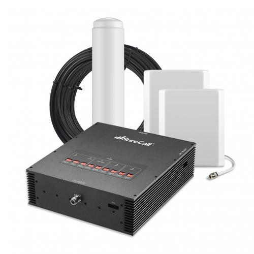 SureCall [Force5] Voice, Text & 4G LTE Cell Phone Signal Booster Omni/ 2 Panel Kit [Large Buildings 25,000+ sq. ft]