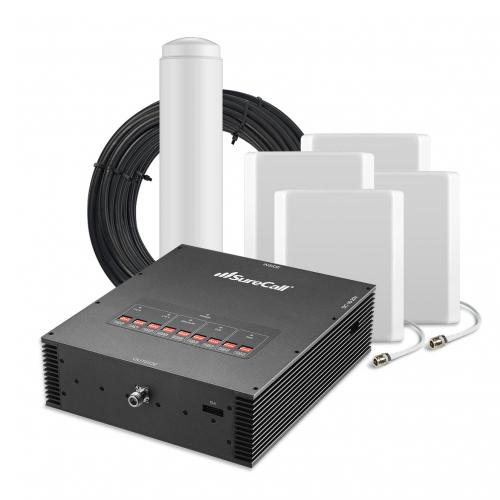 SureCall [Force5] Voice, Text & 4G LTE Cell Phone Signal Booster Omni/ 4 Panel Kit [Large Buildings 25,000+ sq. ft]