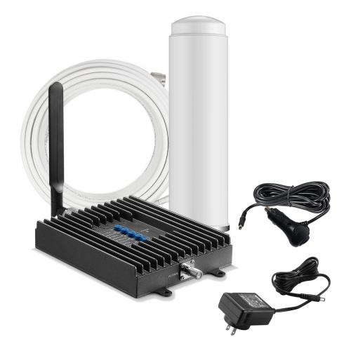 SureCall [Fusion2Go RV Kit] Voice, Text, 4G LTE Mobile Cell Phone Signal Booster Kit [Large Vehicles]
