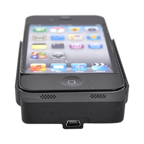 Original IvySkin AT&T Apple iPhone 4 Quattro 4 Battery Pack Case, SC4-JET - Black