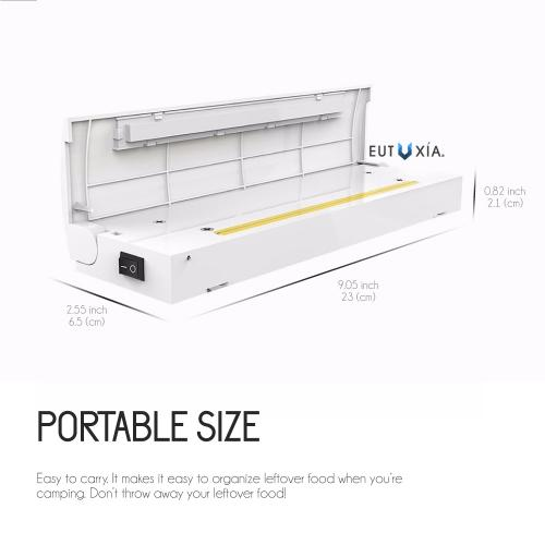 Portable Food Vacuum Sealer Machine - Keep Your Food Fresh! [White]