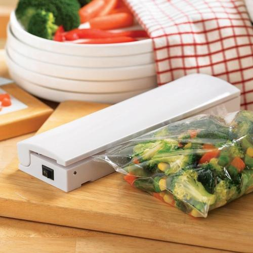 Portable Food Sealer Machine - Keep Your Food Fresh! [White]
