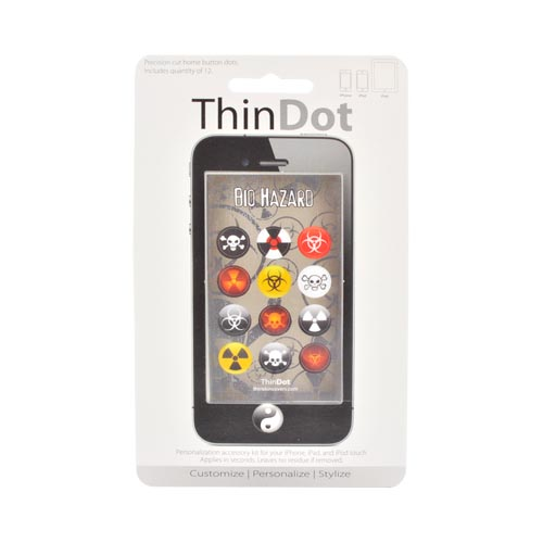 Original ThinDot Universal Apple iPhone/ iPod/ iPad Home Button Stickers - Bio Hazard