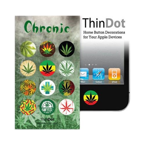 Original ThinDot Universal Apple iPhone/ iPod/ iPad Home Button Stickers - Chronic Theme