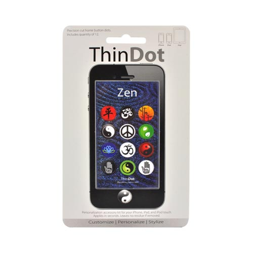 Original ThinDot Universal Apple iPhone/ iPod/ iPad Home Button Stickers - Zen Theme