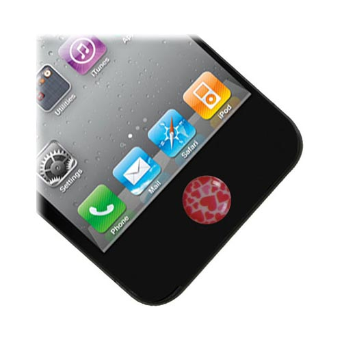 Universal Apple iPhone/ iPod/ iPad Home Button Stickers - Hearts