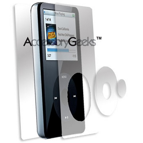 Apple iPod 5G Video Clear Front and Back Protector - Clear