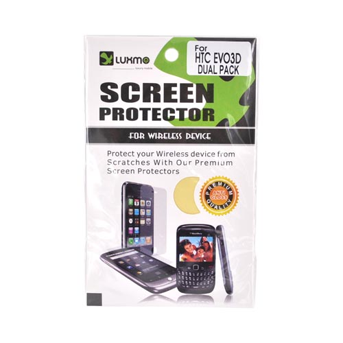 Premium HTC EVO 3D Anti-Gloss Screen Protector (2 Pack) - Clear