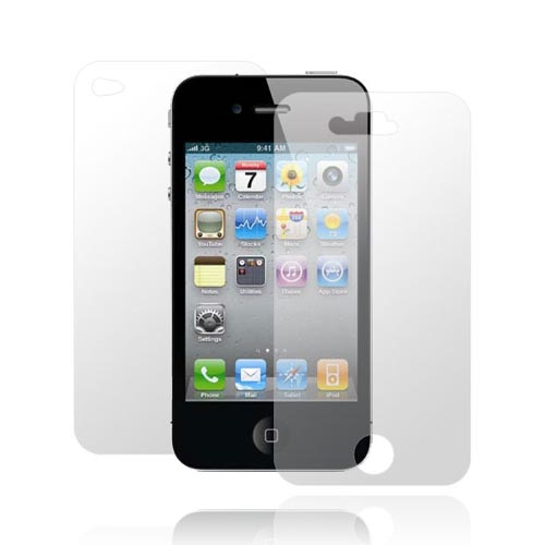 AT&T/Verizon Apple iPhone 4, iPhone 4S Front and Back Anti-Glare Screen Protector