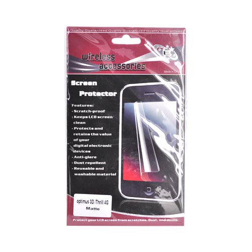 LG Thrill 4G Anti-Glare Screen Protector