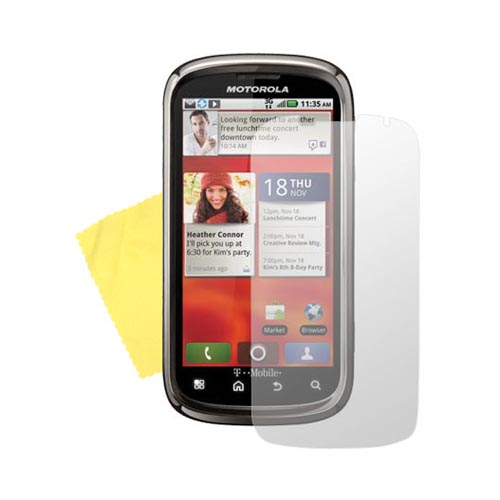 Motorola CLIQ 2 Anti-Glare Screen Protector
