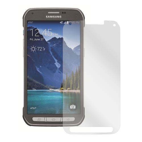Clear Samsung Galaxy S5 Active Anti-Glare Touch Screen Protector - Great Way To Prevent Glare!