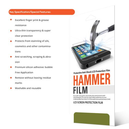 RED SHIELD High Definition Ultra Premium Hammer Strength Clear Screen Protector for Samsung Epic 4G Touch