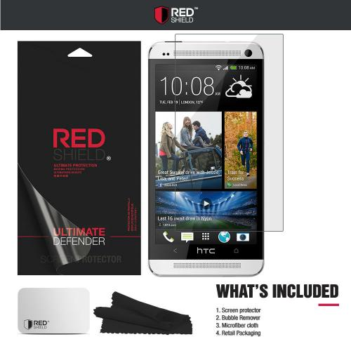 HTC One M7 Screen Protector, Premium [Ultra HD Film] [Anti-Shock] Clear Screen Protector for HTC One M7