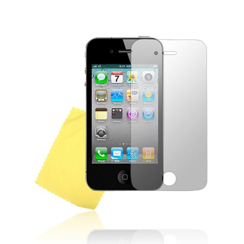 AT&T/Verizon Apple iPhone 4 iPhone 4, iPhone 4S Screen Protector w/ Mirror Effect