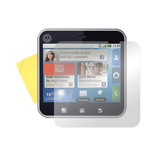 Motorola Flipout MB511 Screen Protector w/ Mirror Effect