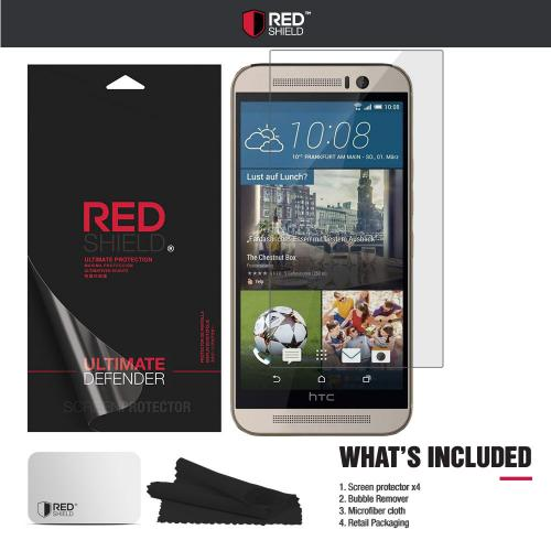 [3+1 Pack] HTC One M9 Screen Protector, REDshield [Clear] HD Ultra Thin Scratch Resistant, Bubble Free, Protective Screen Guard Film for HTC One M9