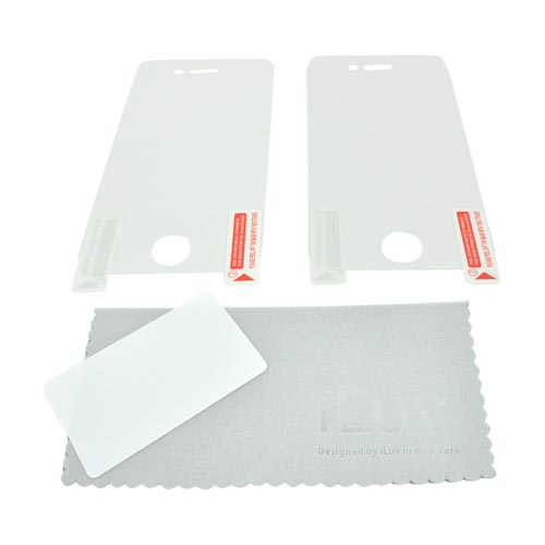 Original iLuv AT&T/ Verizon Apple iPhone 4, iPhone 4S 2 Pack Screen Protector - Clear