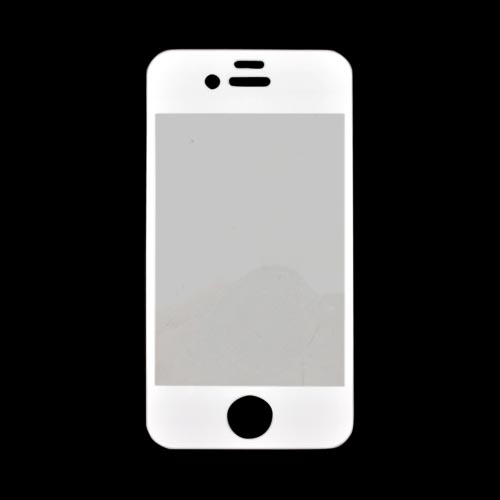 Wezzi AT&T/ Verizon Apple iPhone 4, iPhone 4S Bulletproof Protective Front Cover Film - White