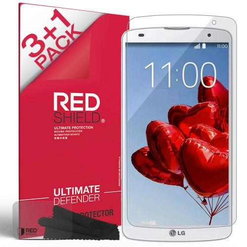 [3+1 Pack] LG G Pro 2 Screen Protector, REDshield [Clear] HD Ultra Thin Scratch Resistant, Bubble Free, Protective Screen Guard Film for LG G Pro 2