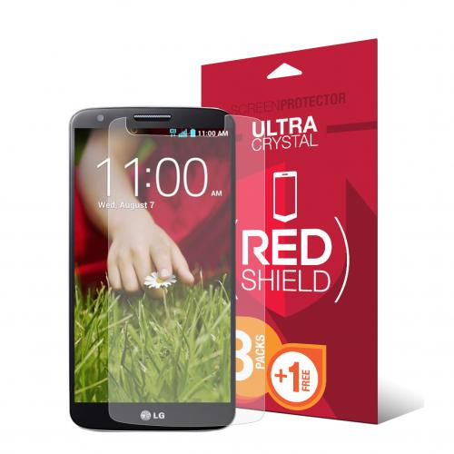 [REDShield] LG G2 Screen Protectors 3 Pack + 1 Free, Crystal Clear HD Screen protector. Anti-Scratch, Easy to apply