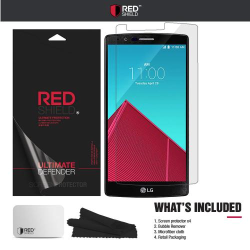 [3+1 Pack] LG G4 Screen Protector, REDshield [Clear] HD Ultra Thin Scratch Resistant, Bubble Free, Protective Screen Guard Film for LG G4