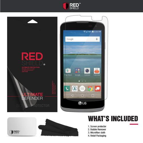 LG Optimus Zone 3 Screen Protector, REDshield [Crystal Clear] HD Ultra Thin Scratch Resistant, Bubble Free, Protective Screen Guard Film