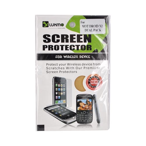 Premium Motorola Droid X / X2 Screen Protector (2 Pack) - Clear