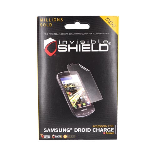 Original Zagg Samsung Droid Charge invisibleSHIELD Screen Protector - Clear
