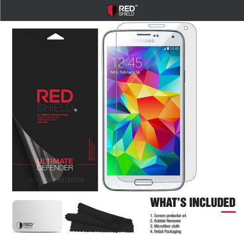 [3+1 Pack] Samsung Galaxy S5 Screen Protector, REDshield [Clear] HD Ultra Thin Scratch Resistant, Bubble Free, Protective Screen Guard Film for Samsung Galaxy S5