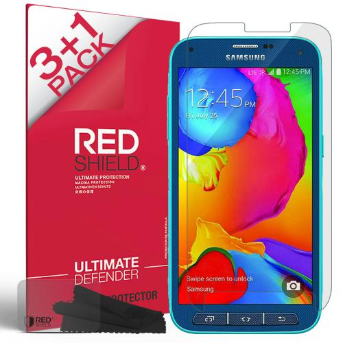 [3+1 Pack] Samsung Galaxy S5 Sport Screen Protector, REDshield [Clear] HD Ultra Thin Scratch Resistant, Bubble Free, Protective Screen Guard Film for Samsung Galaxy S5 Sport