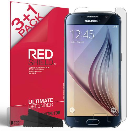Galaxy S6 Screen Protector by RedShield | [Ultra HD Film] Lucid Crystal Clarity with Enhanced Touch Percision [4 Pack]