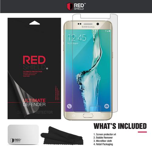[3+1 Pack] Samsung Galaxy S6 Edge Plus Screen Protector, REDshield [Clear] HD Ultra Thin Scratch Resistant, Bubble Free, Protective Screen Guard Film for Samsung Galaxy S6 Edge Plus