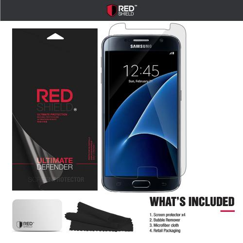 [3+1 Pack] Samsung Galaxy S7 Screen Protector, REDshield [Crystal Clear] HD Ultra Thin Scratch Resistant, Bubble Free, Protective Screen Guard Film for Samsung Galaxy S7