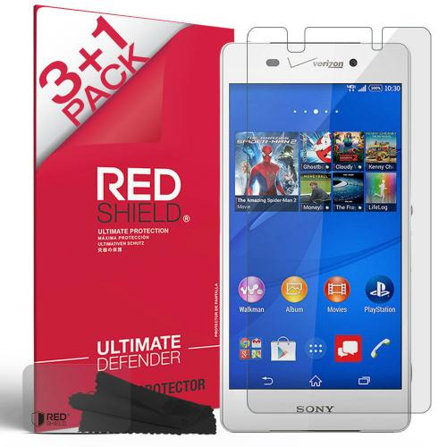 Xperia Z3v Screen Protector, [Crystal Clear] High Definition Precision-Cut Screen Protector for Sony Xperia Z3v (2014)