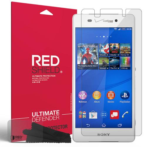 Xperia Z3v Screen Protector, [Crystal Clear] High Definition Precision-Cut Screen Protector for Sony Xperia Z3v