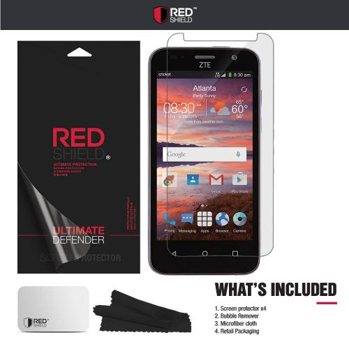 [3+1 Pack] ZTE Overture 2 Screen Protector, REDshield [Clear] HD Ultra Thin Scratch Resistant, Bubble Free, Protective Screen Guard Film for ZTE Overture 2
