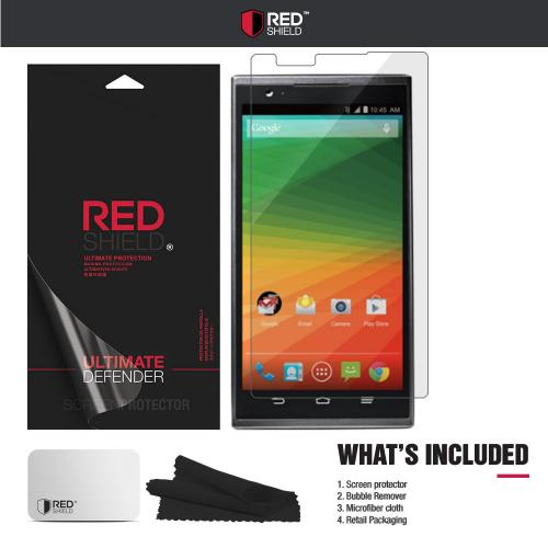 ZTE ZMax Screen Protector, REDshield [Crystal Clear] High Definition Precision-Cut Screen Protector for ZTE ZMax