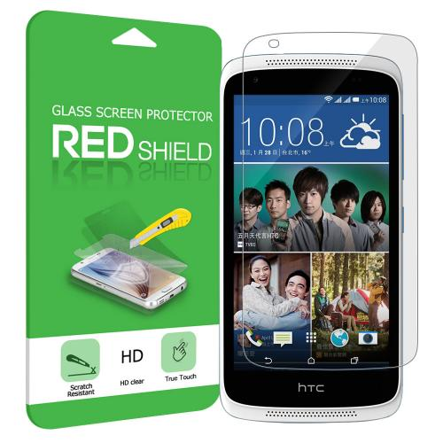 HTC Desire 526 Screen Protector, Premium HD Protective [Tempered Glass] Screen Protector Guard
