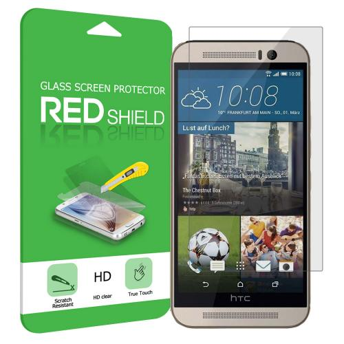 One M9 Screen Protector, [Tempered Glass] Ultimate Tempered Glass Impact-Resistant Protective Screen Protector for HTC One M9