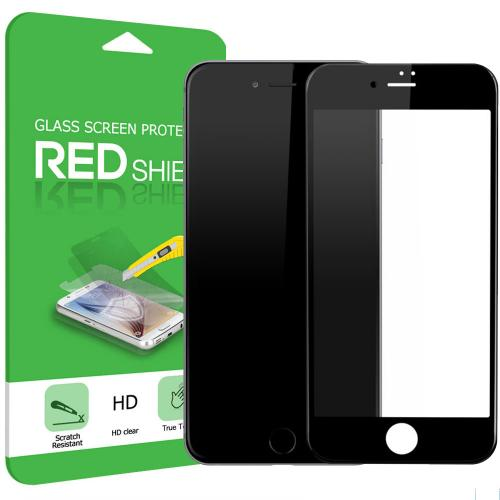 Apple iPhone 7 (4.7 inch) Screen Protector, [Tempered Glass] 4D Curved Tempered Glass Screen Protector, Covers Edge to Edge [Black]