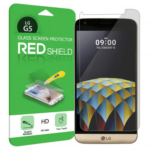 [REDshield] LG G5 Screen Protector, [Tempered Glass] Ultimate Tempered Glass Impact-Resistant Protective Screen Protector