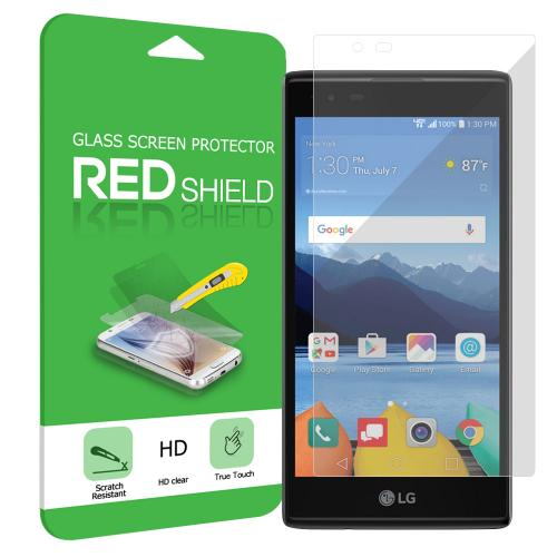 LG K8V [Verizon] Screen Protector, [Clear] Ultimate Tempered Glass Impact-Resistant Protective Screen Protector