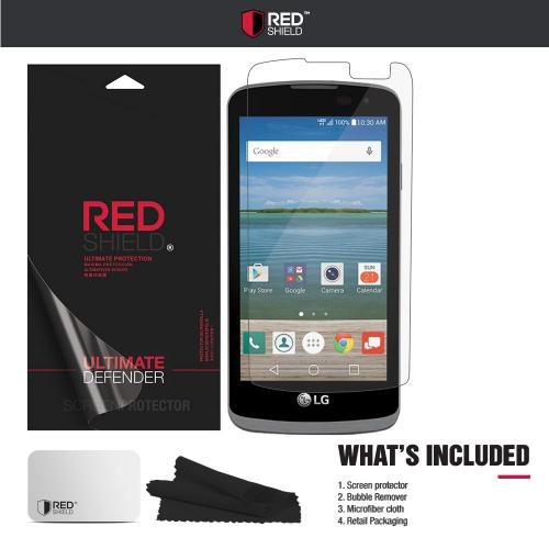 LG Optimus Zone 3 Screen Protector, REDshield [Tempered Glass] Ultimate Tempered Glass Impact-Resistant Protective Screen Protector