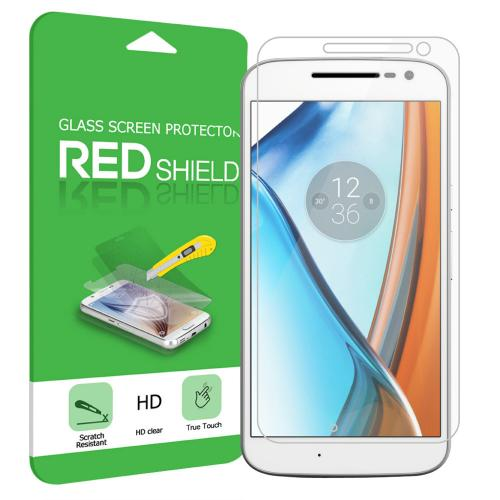 Motorola Moto G4 2016 (4th Gen.) Screen Protector, REDshield [Tempered Glass] Ultimate Impact-Resistant Protective Screen Protector