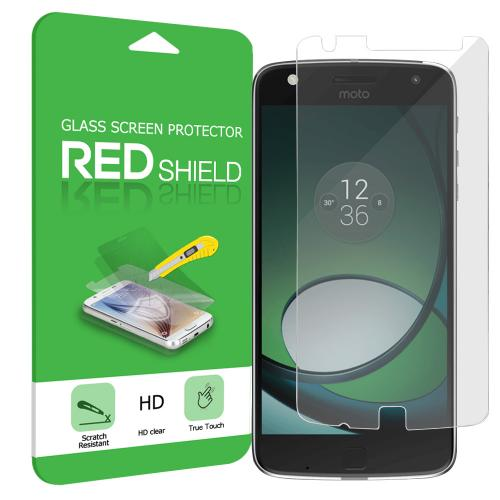 Motorola Moto Z Play Screen Protector, [Clear] Ultimate Tempered Glass Impact-Resistant Protective Screen Protector