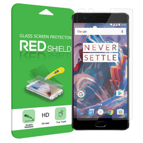 OnePlus 3 Screen Protector, REDshield [Tempered Glass] Ultimate Impact-Resistant Protective Screen Protector