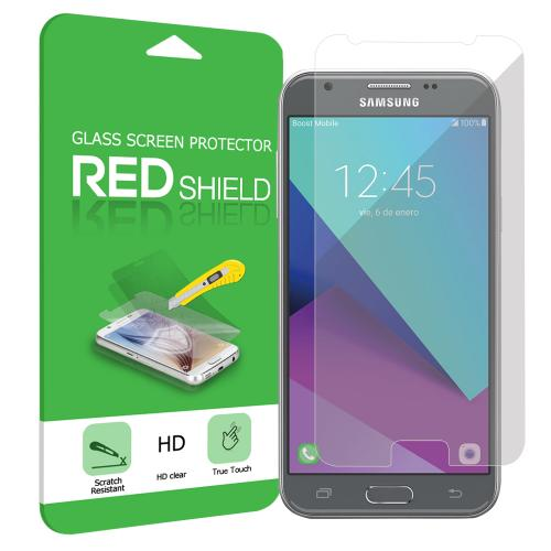 Samsung Galaxy J3 Emerge Screen Protector, [Clear] Ultimate Tempered Glass Impact-Resistant Protective Screen Protector (Does not cover the edges)