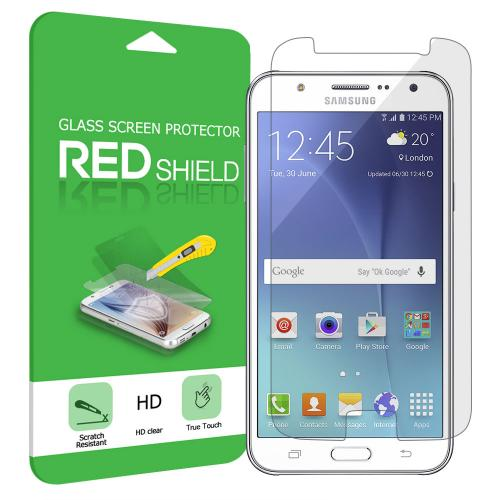 Samsung Galaxy J7 Screen Protector, REDshield [Tempered Glass] Ultimate Tempered Glass Impact-Resistant Protective Screen Protector for Samsung Galaxy J7
