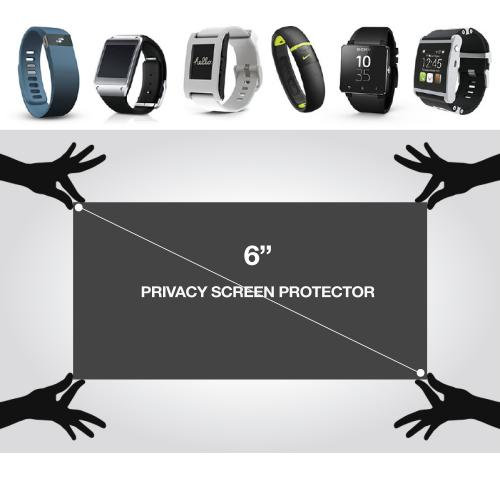 "Phone 4-Way Privacy Screen Protector w/ Grid for Screens up to 6""!"